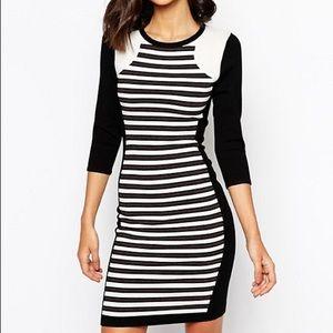 Karen Millen Striped Knit Bodycon Dress